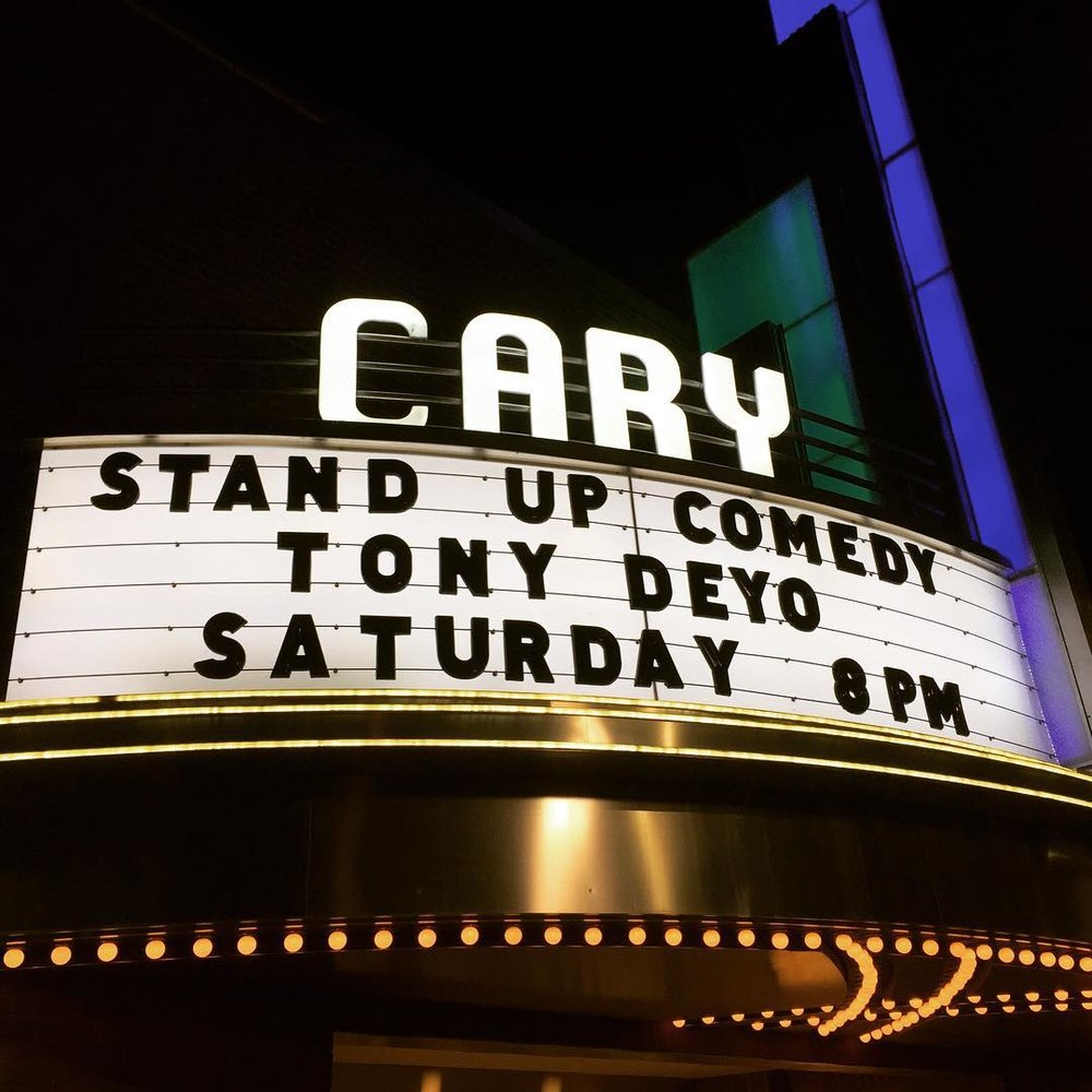 My first marquee. #thecarytheater  (at The Cary Theater)