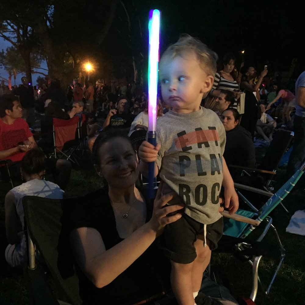 My little Jedi. #TheForceIsStrongWithThisOne  (at Astoria Park)