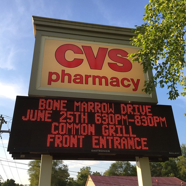 Bone marrow drive? Come on CVS… I barely trust you to give me a flu shot.