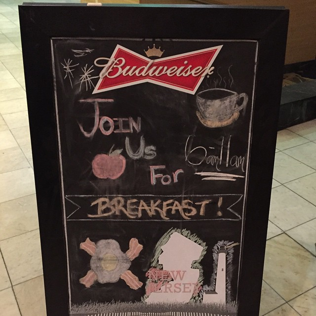 Eggs… sponsored by #Budweiser
