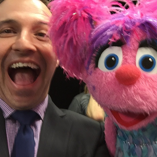 At @youtubespaceny yesterday and ran into a @sesamestreet friend. #Abby !!!