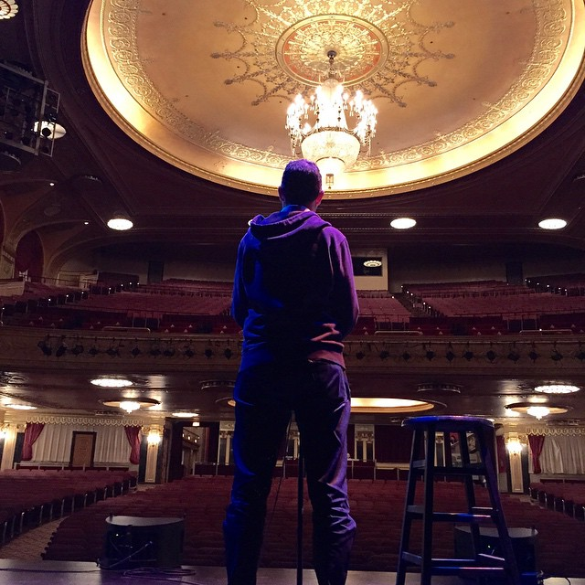 Sound check before one of the best shows I've ever been a part of. Thanks #DC