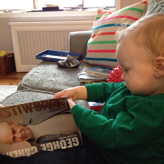 Some kids read The Very Hungry Caterpillar. This one likes a comedy biography now and then.
