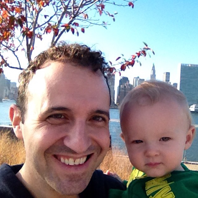 "Daycare is closed for Veterans Day, so today I am ""with child"". I think I'm using that phrase correctly. (at Gantry Plaza State Park)"