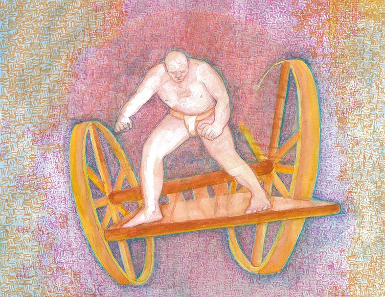Freestanding Charioteer