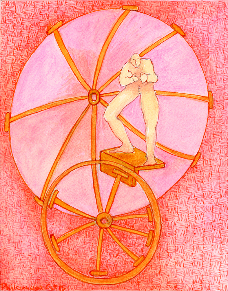 Pink Charioteer | Watercolour, pen & ink | 2015