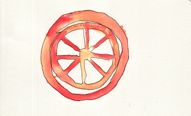 Blood Red Charri Wheel