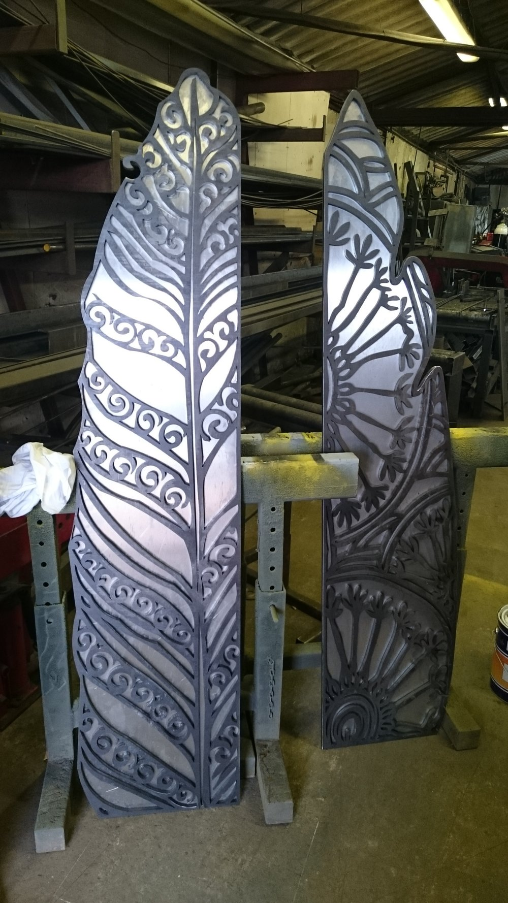Trail Markers at Allsteel Fabricators Ltd during construction
