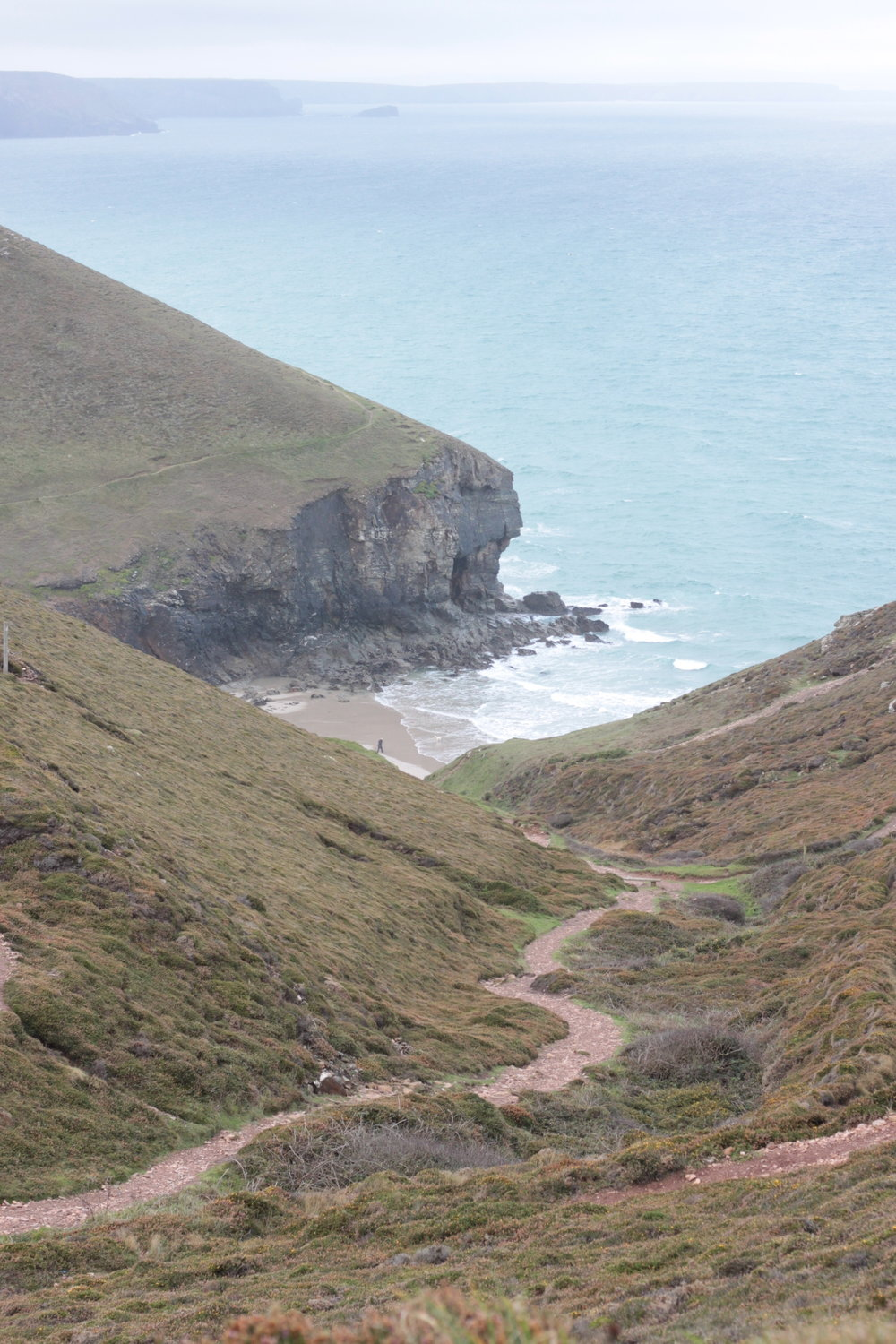 The path down to Chapel Porth Beach.