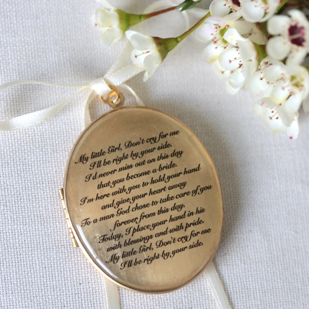 Wedding bouquet locket.