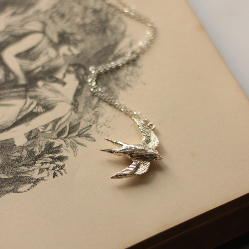 Our swallow necklace.