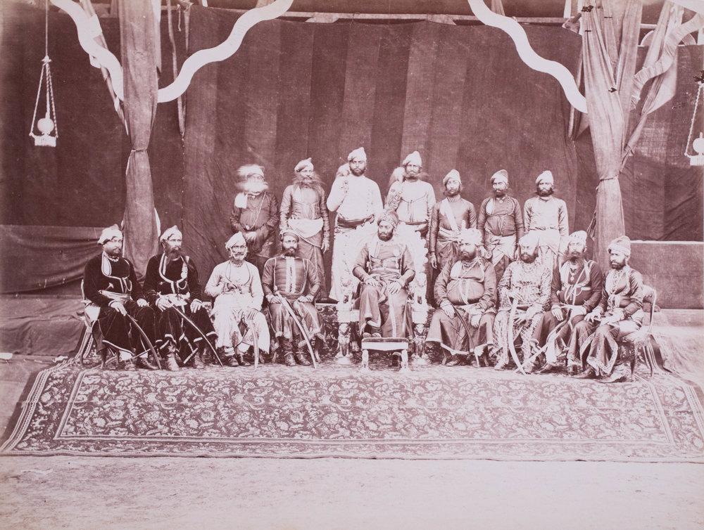 Le Maharaja et Sindarins d'Udaipur