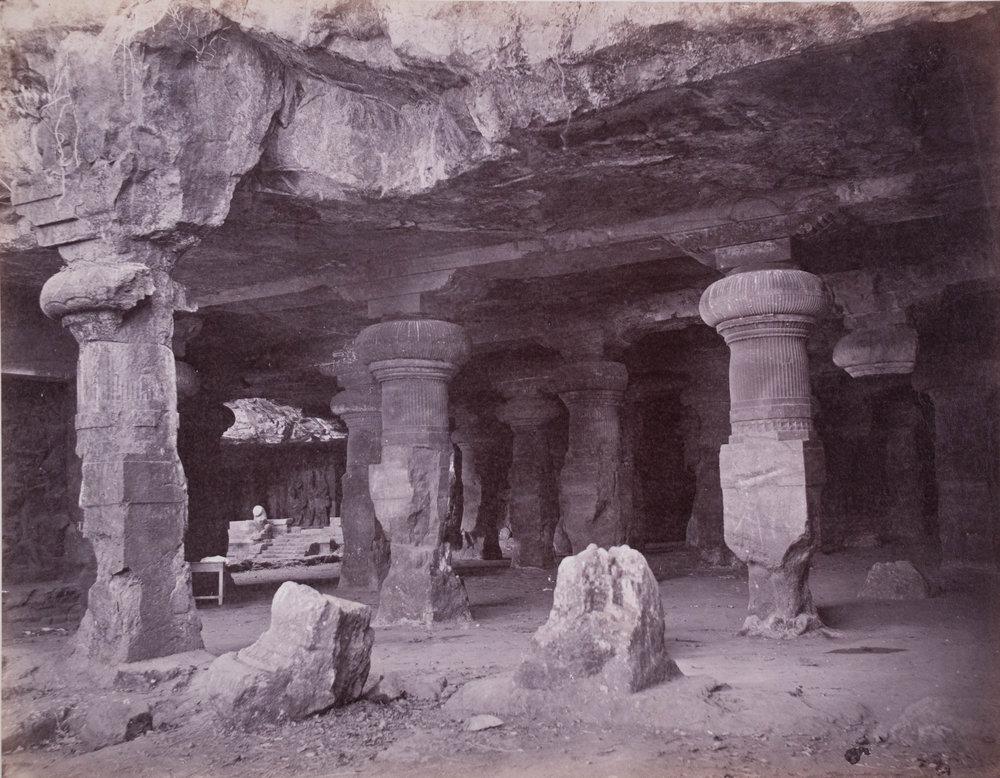 Caveau de l'île Elephanta, Baie de Bombay