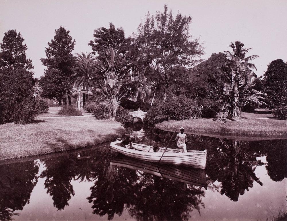 Vue du jardin d'Eden 1865, Calcutta