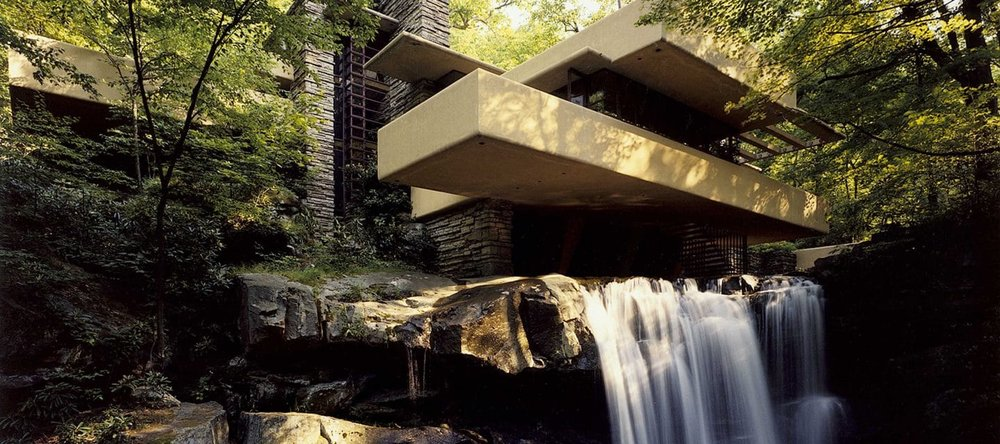 Fallingwater in Summer - Courtesy of the Western Pennsylvania Conservancy