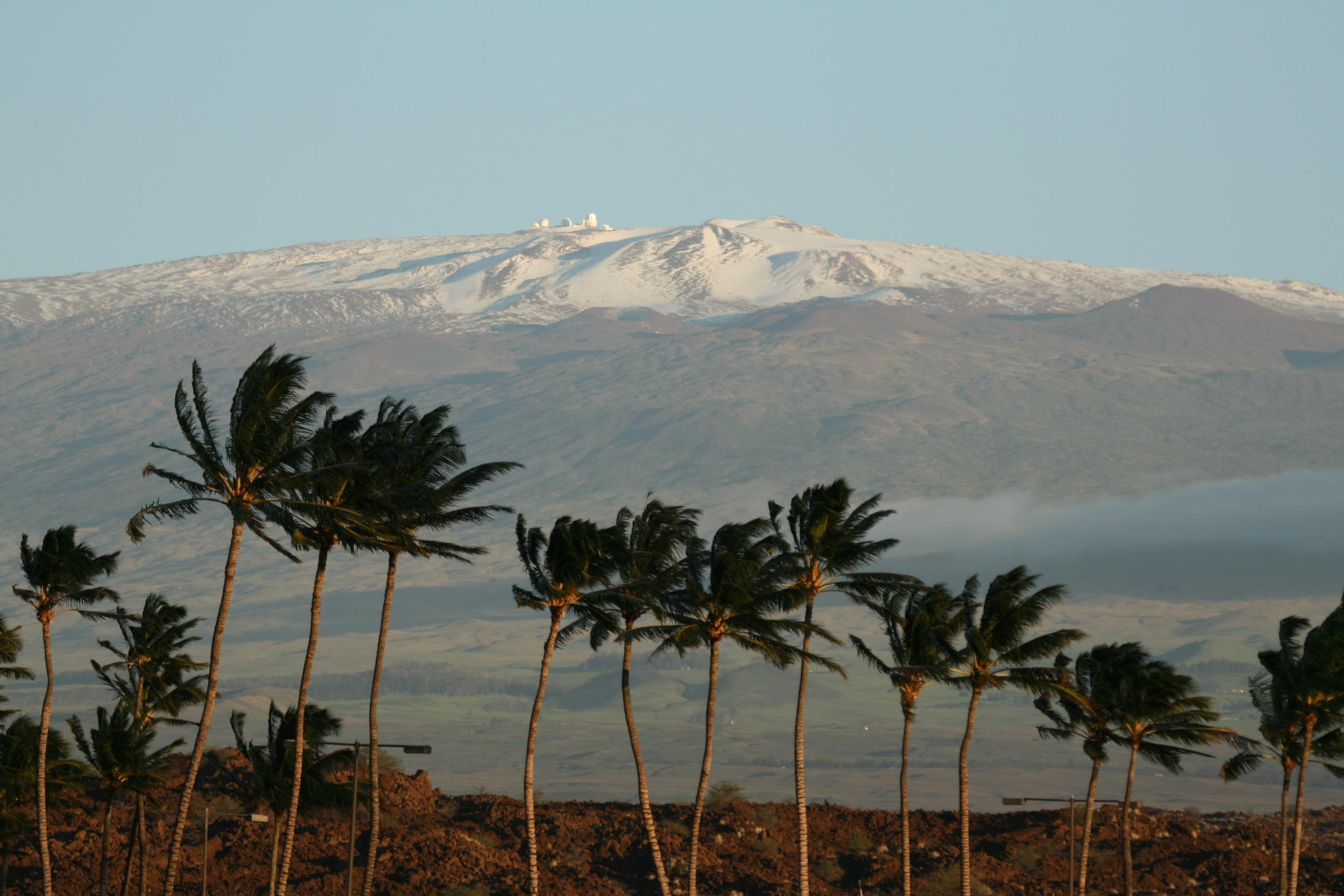 Tropical Snow on Mauna Kea Mountain, Big Island