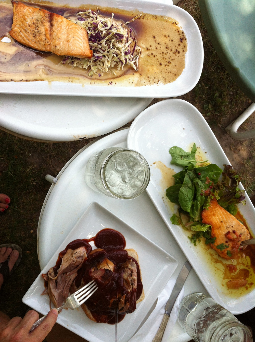 A delicious summer meal alfresco.