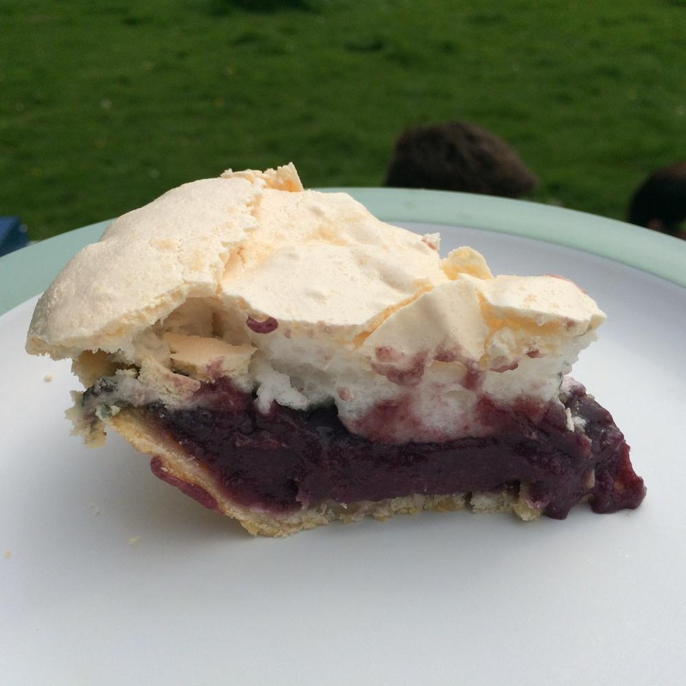 Oregon Grape Meringue Pie