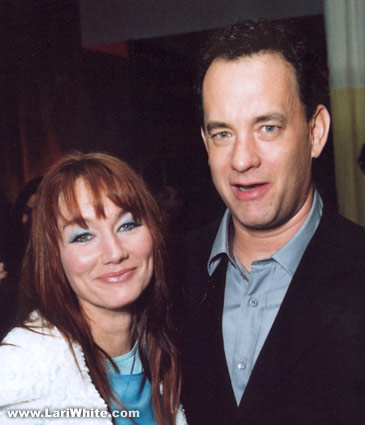 Lari White and Tom Hanks