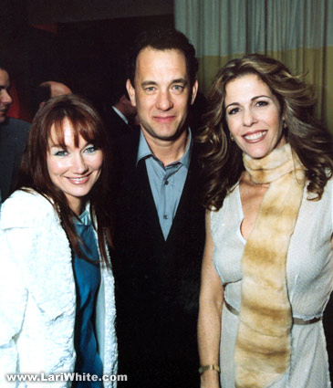 Lari White, Tom Hanks, Rita Wilson