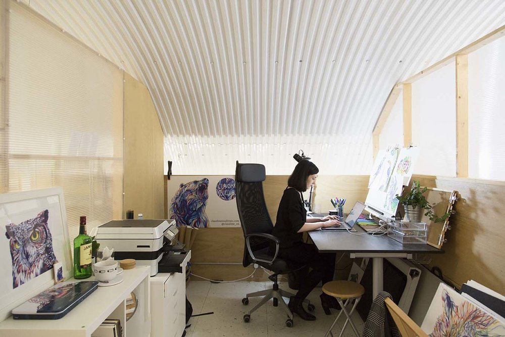 Claudine O'Sullivan in her studio, Image courtesy of Lewis Khan