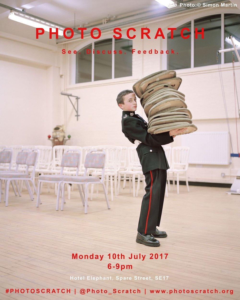 July 2017 Photo Scratch poster. Image © Simon Martin