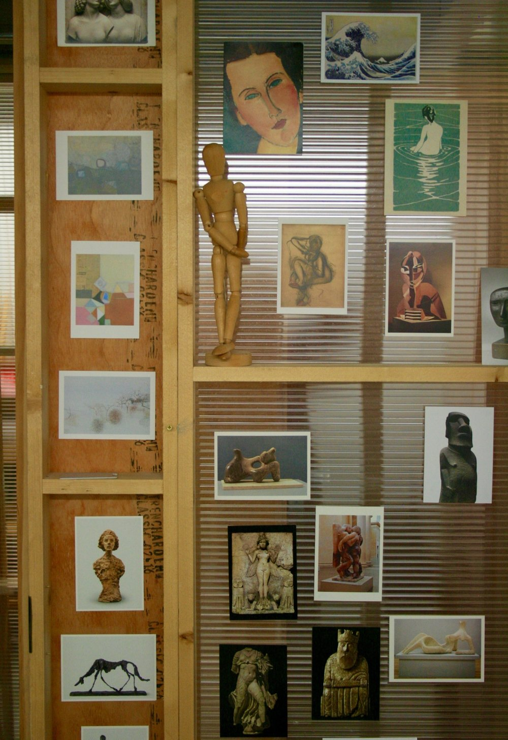 Judith Pollock's wall of inspiration
