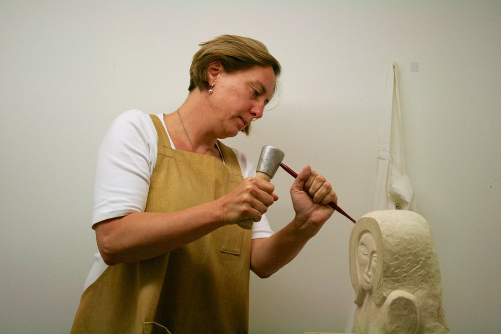 Judith Pollock working