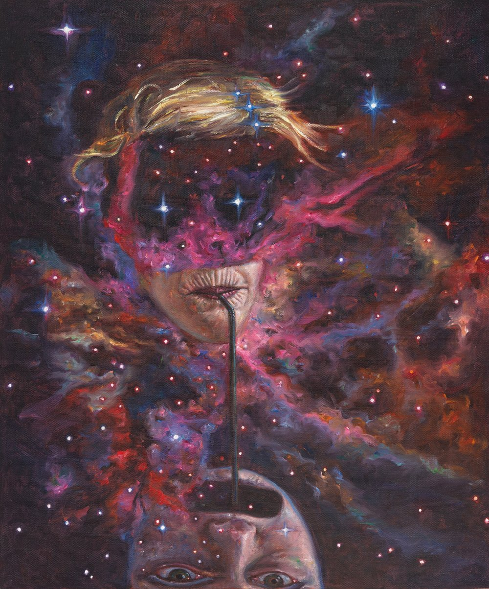 Infinity Sucker , 2015, Oil on linen, 60 x 50 cm