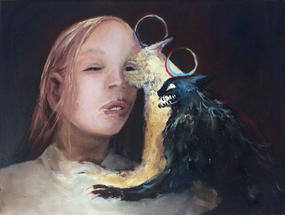 In the eye of the beholder , 2016, oil on canvas, 30 x 40 cm