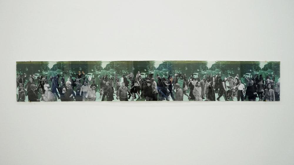 Fishman , 2016, Photo collage, 135 x 20 cm