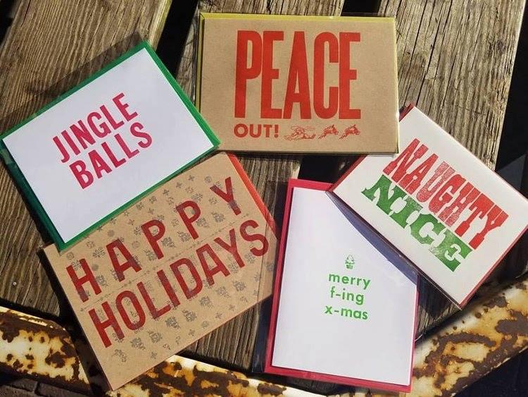 letterpress holiday cards 12218 - Letterpress Holiday Cards