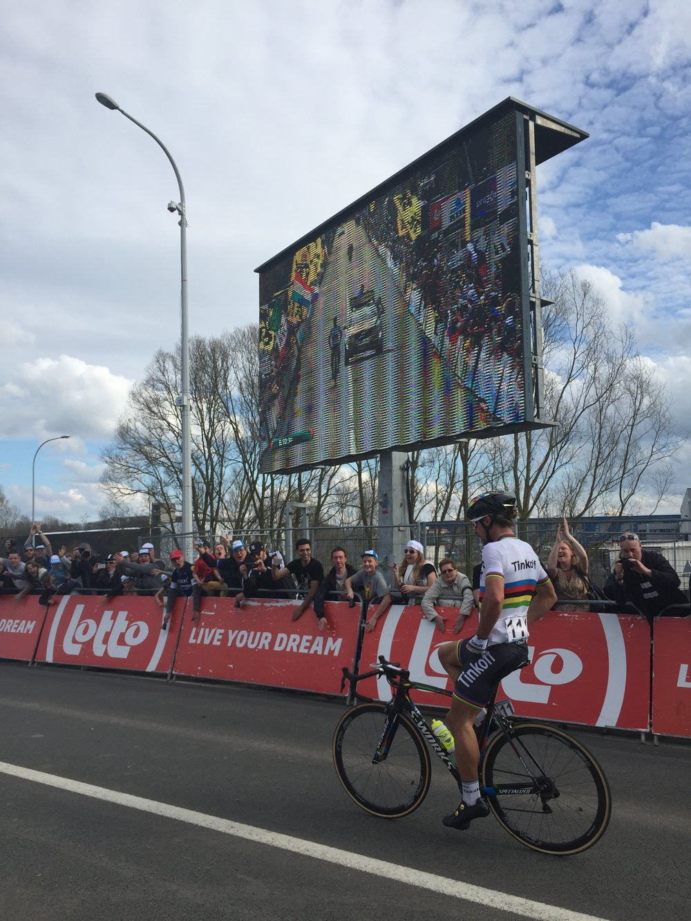 Peter Sagan coasts to victory at the 2016 Ronde van Vlandereen. Photo by Cal G.