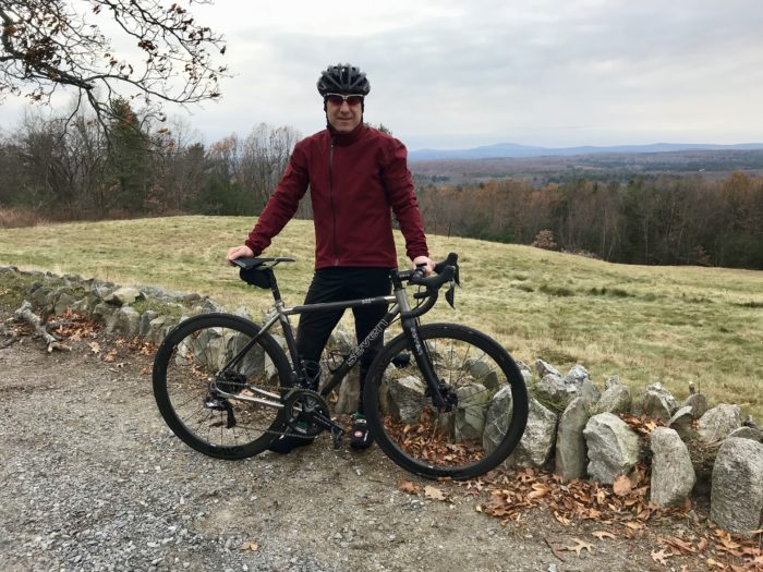 Mark and his 622 SLX regularly ride the hills in and around Harvard.