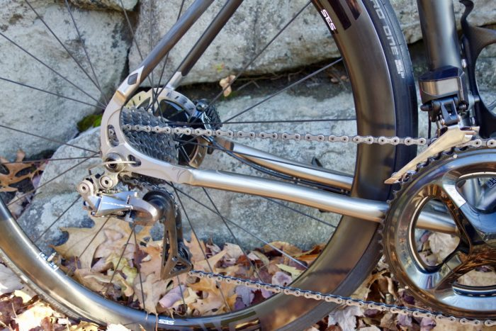 Seven's signature thru-axle dropouts are exceptionally strong and well designed. Never worry about a broken derailleur hanger again with this titanium hanger.
