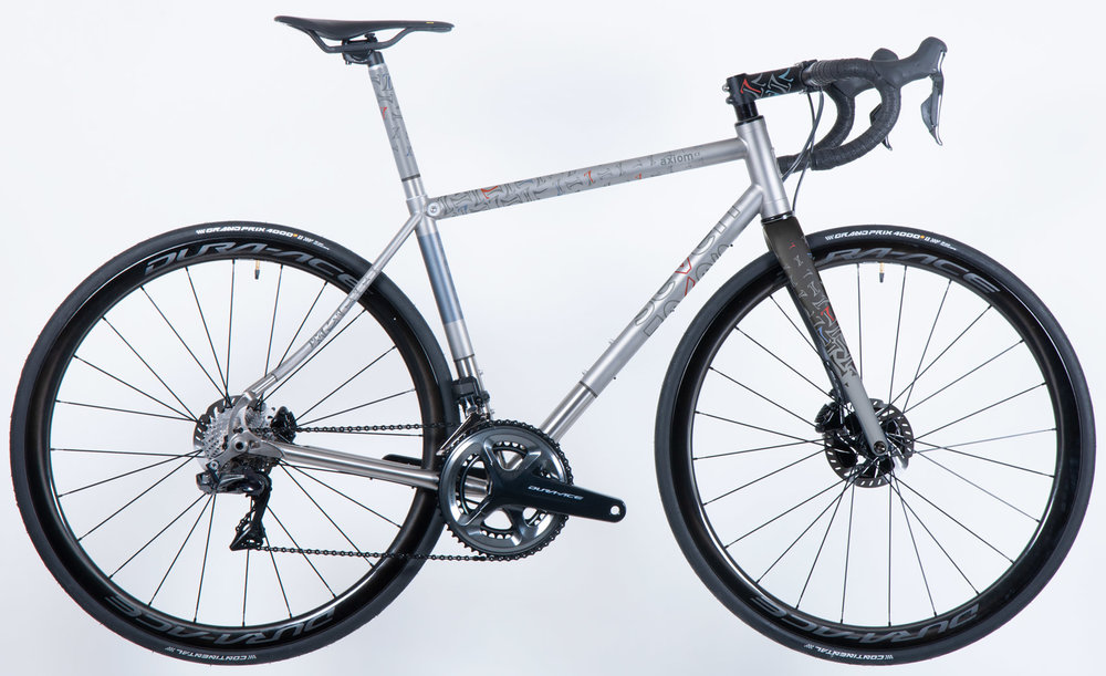 This is the Seven Cycles Ultimate Axiom Disc award-winning road bike! See it on Seven Cycles'  website .