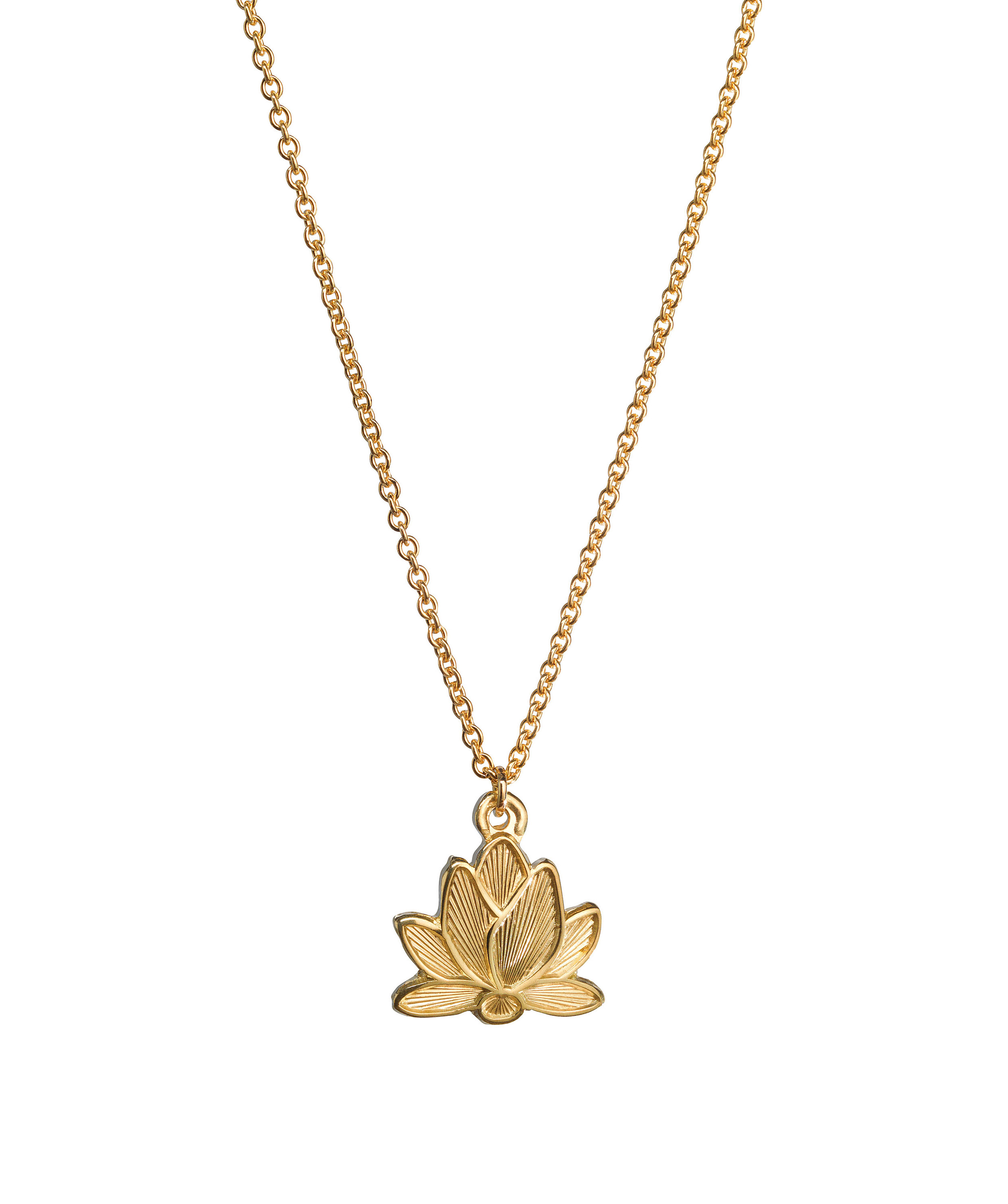 28bec39245c49b Lotus flower necklace 14k gold — mani kamini