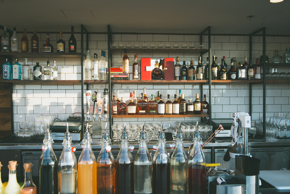 Our fully stocked bar at citybar