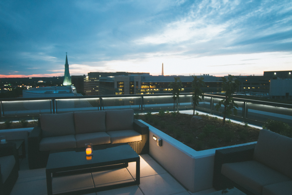Rooftop of the hyatt place dc national mall