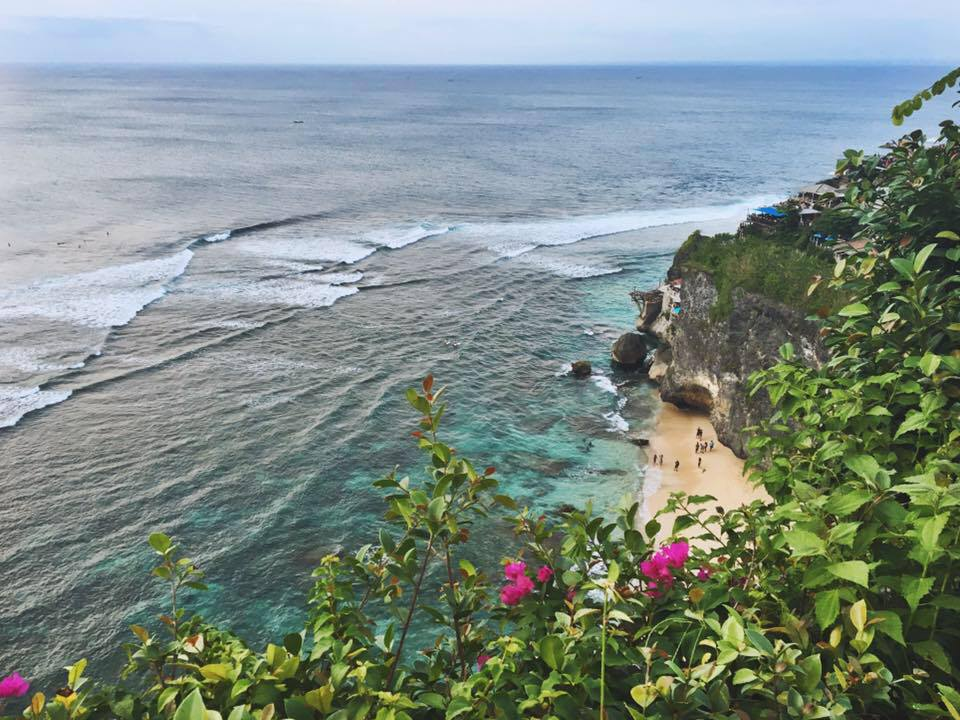 View from the cliffs. Uluwatu, Bali, Indonesia.