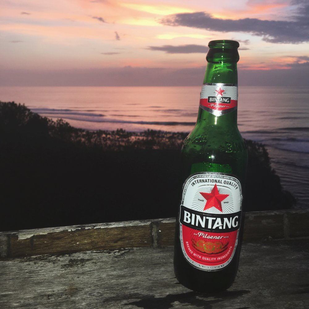 Bintangs at Sunset.