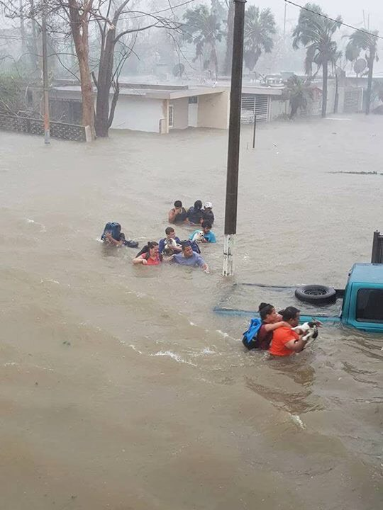 Flash Flooding in Puerto Rico. Source unknown.