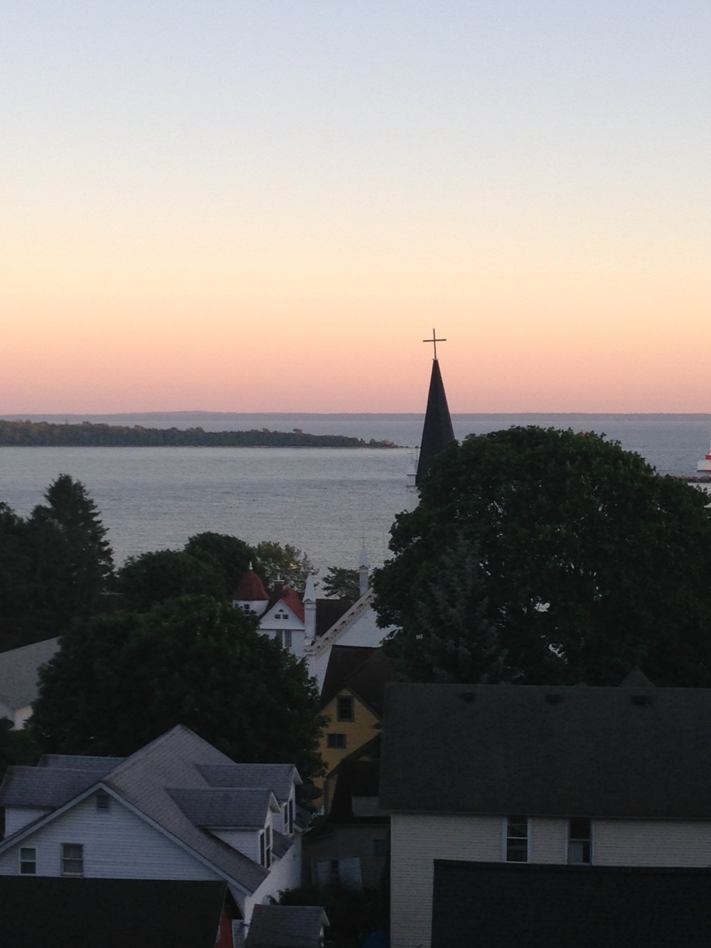 Sunset on Mackinac Island