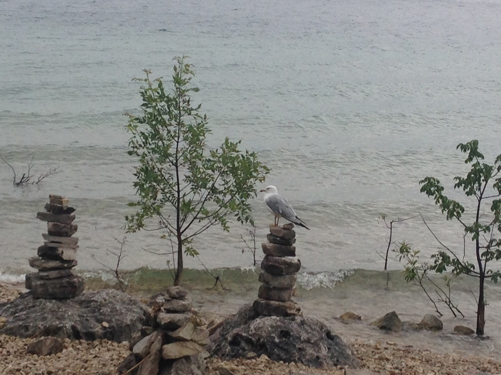 "Great lakes style ""rock castles"" so very interesting and different from the sand castles I know."
