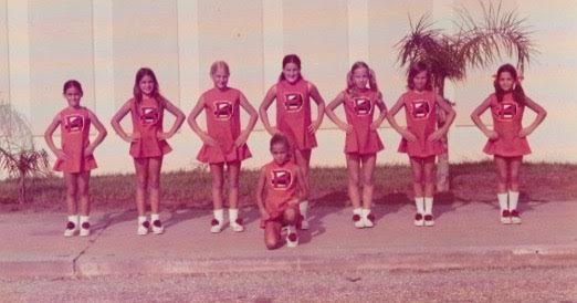 I got to participate in recreational cheerleading (hint - I am the tall one in the middle) but at some point...