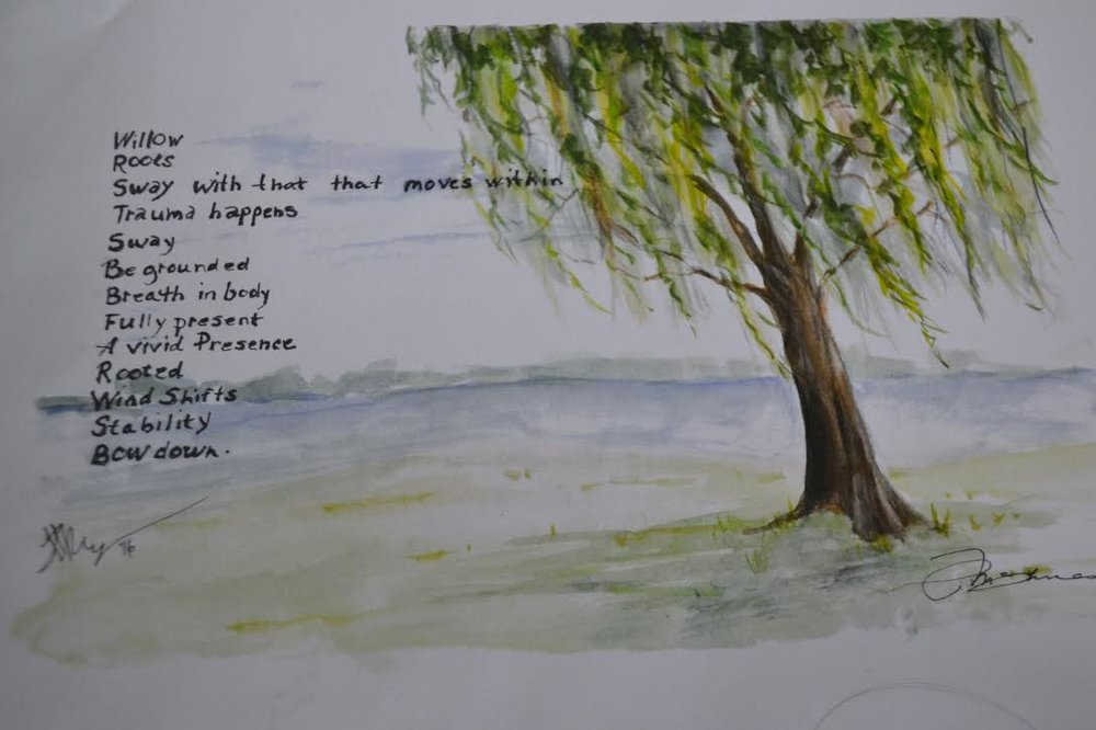 Poem by Linda Riggins. Artwork by Pat McInnes