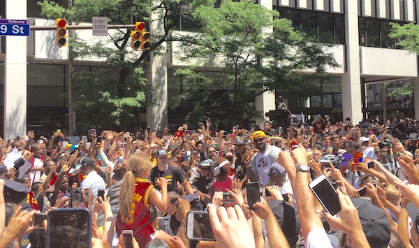 LeBron James parade