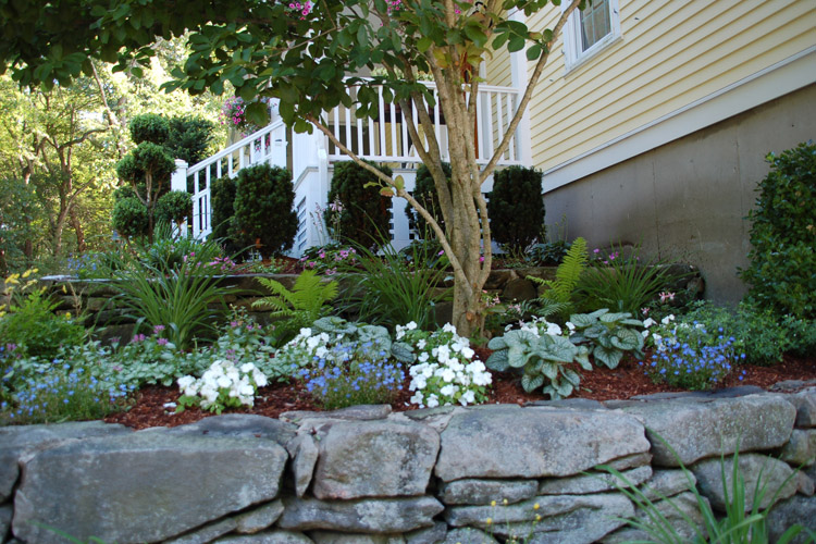 Landscaping, Wall and Planter bed in Westford