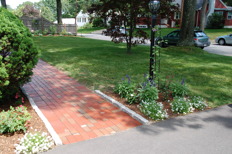 Brick Walkway with Cobblestone Edging, Chelmsford