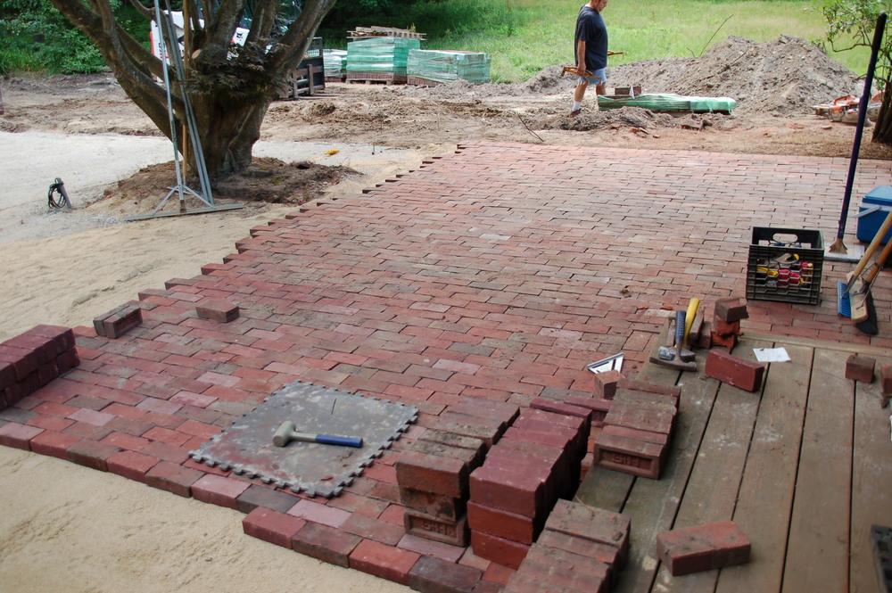 Brick work in progress